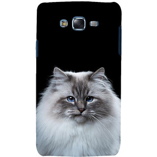 ifasho Innocent Cat with brown Eyes Back Case Cover for Samsung Galaxy J5