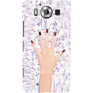 ifasho girl finger with nail polish design Back Case Cover for Nokia Lumia 950