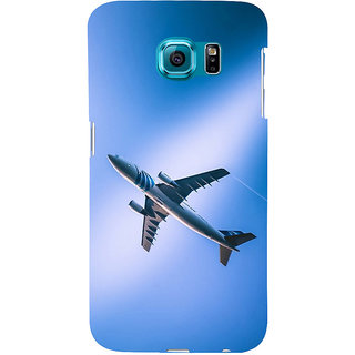 ifasho aeroPlane flying in blue sky Back Case Cover for Samsung Galaxy S6 Edge Plus