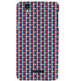 ifasho Colour Full Square Pattern Back Case Cover for YU Yurekha