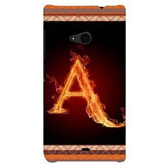 ifasho alphabet name series A Back Case Cover for Nokia Lumia 535