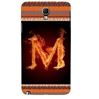 ifasho alphabet name series M Back Case Cover for Samsung Galaxy Note3 Neo