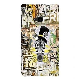 ifasho Animated Pattern of zebra Print Back Case Cover for Nokia Lumia 535