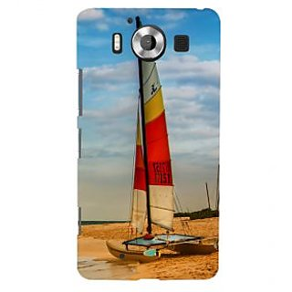 ifasho Boat in a beach Back Case Cover for Nokia Lumia 950