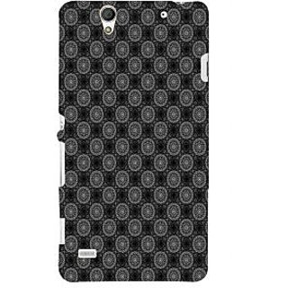 ifasho Animated Pattern design black and white flower in royal style Back Case Cover for Sony Xperia C4