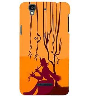 ifasho Lord Krishna with Flute animation Back Case Cover for YU Yurekha