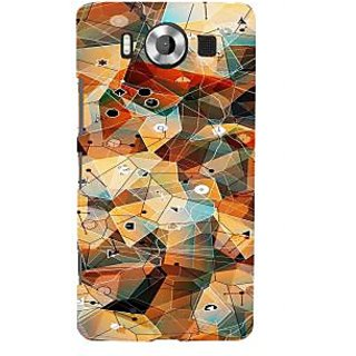 ifasho Modern Theme of royal design in colorful pattern Back Case Cover for Nokia Lumia 950