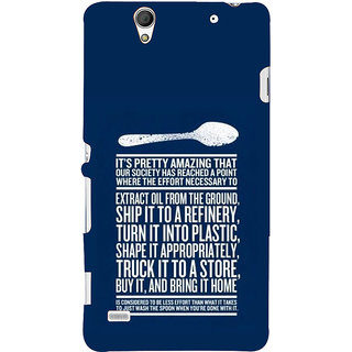 ifasho Think Out of Box quotes Back Case Cover for Sony Xperia C4