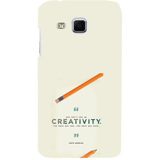 ifasho quotes on creativity Back Case Cover for Samsung Galaxy J3