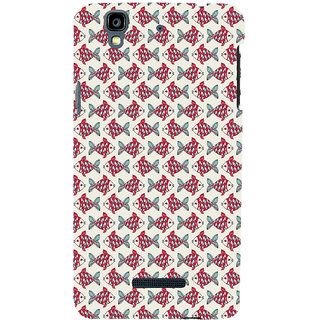ifasho Modern Art Design Pattern Lot of fish Back Case Cover for YU Yurekha