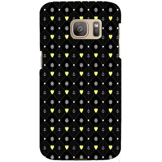 ifasho Modern Art Design Pattern with Lot Of small heart and anchor Back Case Cover for Samsung Galaxy S7 Edge