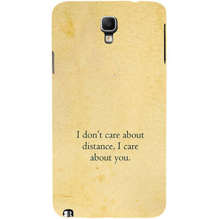 ifasho care quotes  Back Case Cover for Samsung Galaxy Note3 Neo