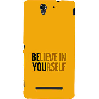ifasho Believe in yourself Back Case Cover for Sony Xperia C3 Dual
