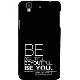 ifasho beautiful qoutes Back Case Cover for YU Yurekha