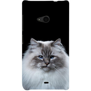 ifasho Innocent Cat with brown Eyes Back Case Cover for Nokia Lumia 535