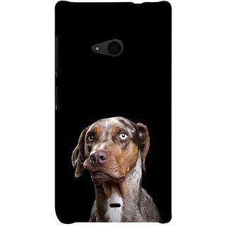 ifasho black Dog Back Case Cover for Nokia Lumia 535