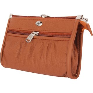 Varsha Fashion Accessories Women Clutch Brown