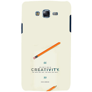 ifasho quotes on creativity Back Case Cover for Samsung Galaxy J5