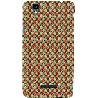ifasho Animated Pattern With flower inside Circle  Back Case Cover for YU Yurekha