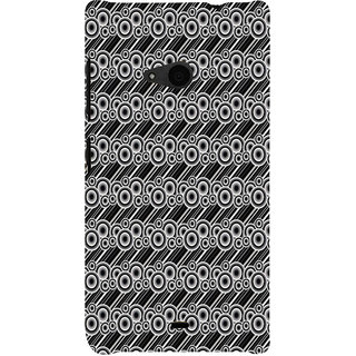 ifasho Animated Pattern  littel and Big Circle black and white with lines Back Case Cover for Nokia Lumia 535