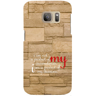 ifasho Kowledge quotes on stone pattern  Back Case Cover for Samsung Galaxy S7 Edge