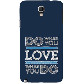 ifasho Modern Quotes Do what you love Back Case Cover for Samsung Galaxy Note3 Neo