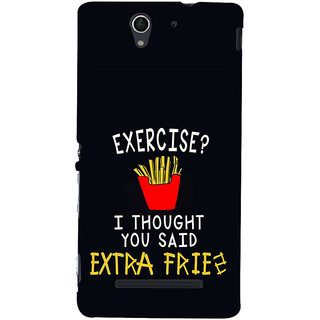 ifasho Quotes on exercise Back Case Cover for Sony Xperia C3 Dual