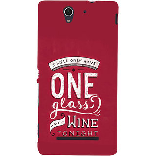 ifasho drink quotes Back Case Cover for Sony Xperia C3 Dual