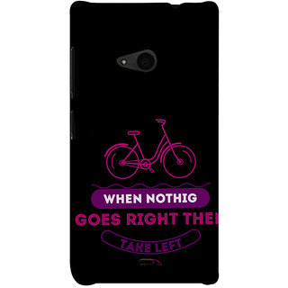 ifasho Right and Wrong Quote Back Case Cover for Nokia Lumia 535