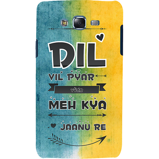 ifasho dil vil pyar vyar quotes Back Case Cover for Samsung Galaxy J5