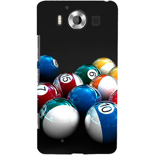 ifasho Design colourful biliards ball pattern Back Case Cover for Nokia Lumia 950