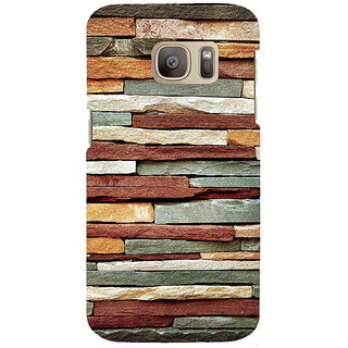 ifasho Rough Stone Graphics Back Case Cover for Samsung Galaxy S7 Edge