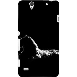 ifasho Leopard resting Back Case Cover for Sony Xperia C4