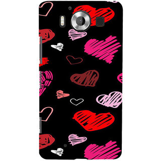ifasho Animated Pattern With Love Back Case Cover for Nokia Lumia 950