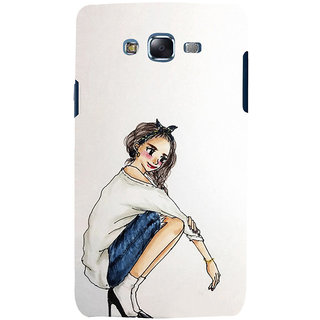 ifasho Sitting Girl Back Case Cover for Samsung Galaxy J5