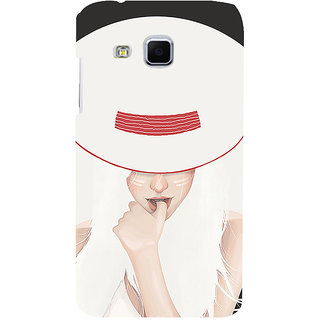 ifasho Gorgeous Winking Girl in white hat Back Case Cover for Samsung Galaxy J3