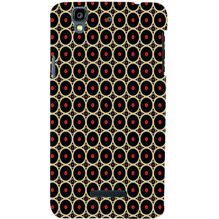 ifasho Animation Clourful Circle on black background Pattern Back Case Cover for YU Yurekha