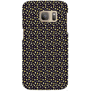 ifasho Animated Pattern colourful littel stars Back Case Cover for Samsung Galaxy S7 Edge