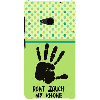 ifasho Modern Art Design  dont touch my phone with palm Back Case Cover for Nokia Lumia 535