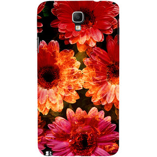 ifasho Flowers Back Case Cover for Samsung Galaxy Note3 Neo