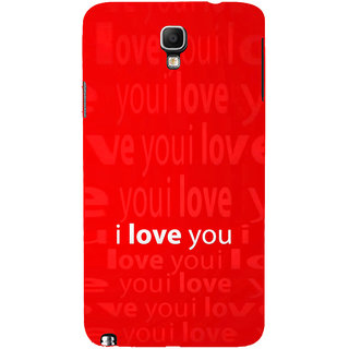 ifasho Love Quotes I love you Back Case Cover for Samsung Galaxy Note3 Neo