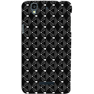 ifasho Animated Pattern design black and white semi circle in royal style Back Case Cover for YU Yurekha