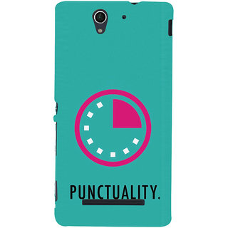 ifasho Puncutality Back Case Cover for Sony Xperia C3 Dual