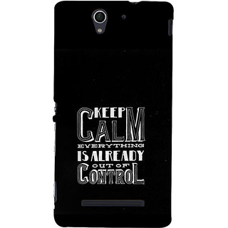 ifasho Nice Quote On Keep Calm Back Case Cover for Sony Xperia C3 Dual