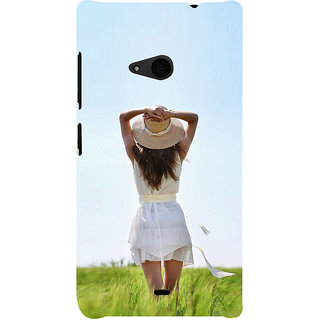 ifasho Girl waiting Back Case Cover for Nokia Lumia 535