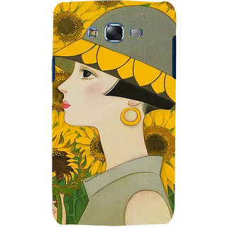 ifasho Painted Girl and flower Back Case Cover for Samsung Galaxy J7