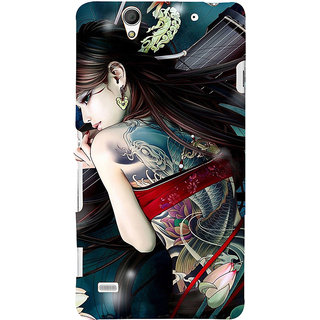 ifasho tatoo girl Back Case Cover for Sony Xperia C4