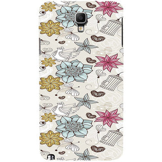 ifasho Animated Pattern colrful design flower and cage and hen Back Case Cover for Samsung Galaxy Note3 Neo