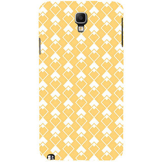 ifasho Orange Colour rectangular Pattern Back Case Cover for Samsung Galaxy Note3 Neo