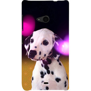 ifasho Black and White Dot Dog Back Case Cover for Nokia Lumia 535